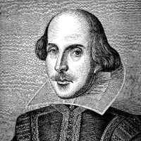 19th Century Engraving of William Shakespeare
