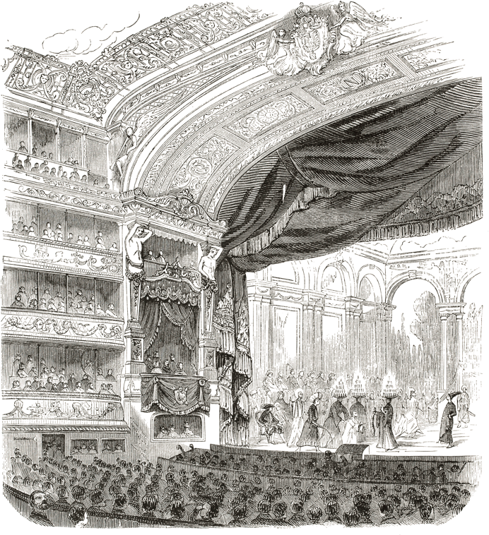 Illustration of a Victorian Theatre