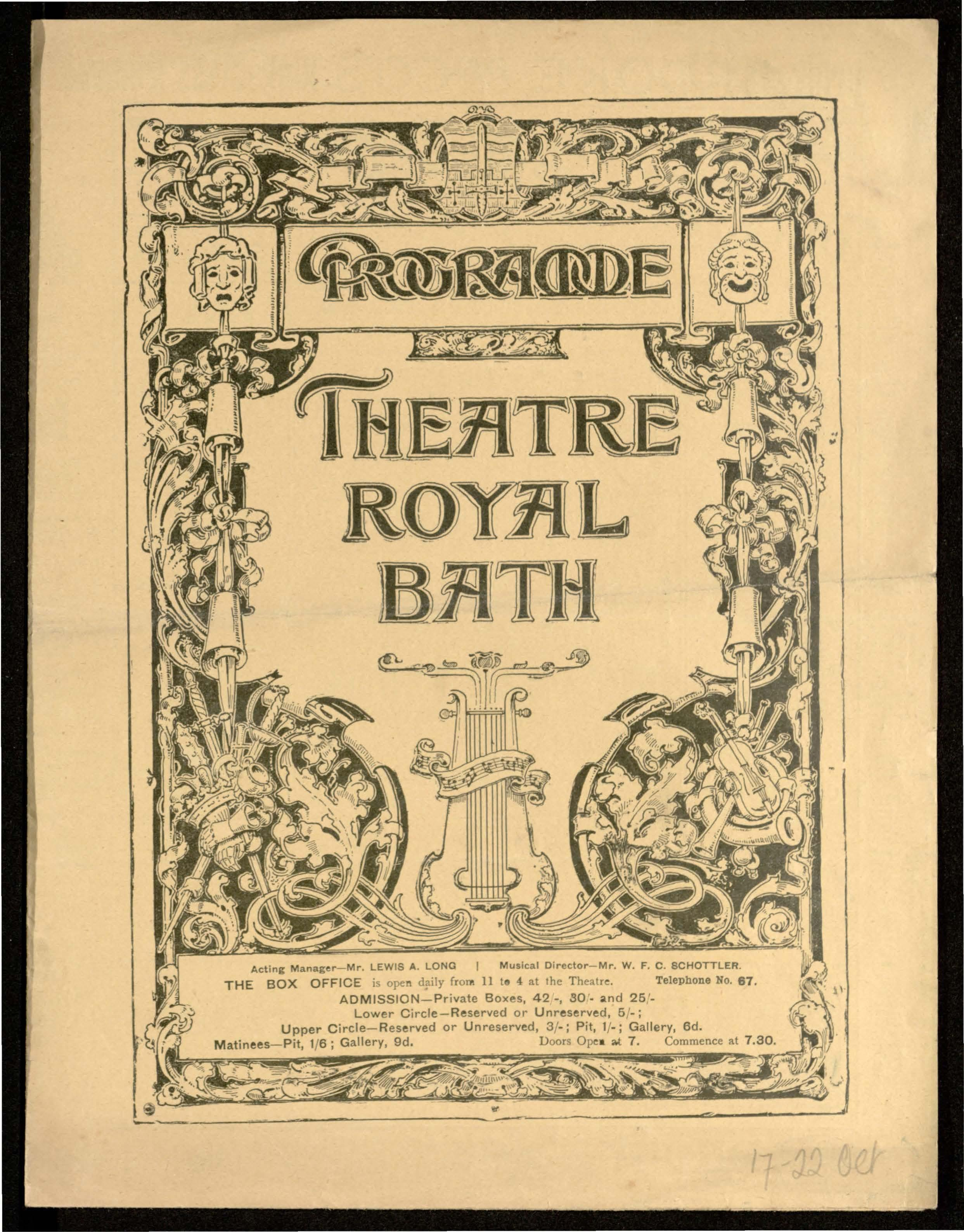 Much Ado About Nothing (etc ), 17-22 October 1904